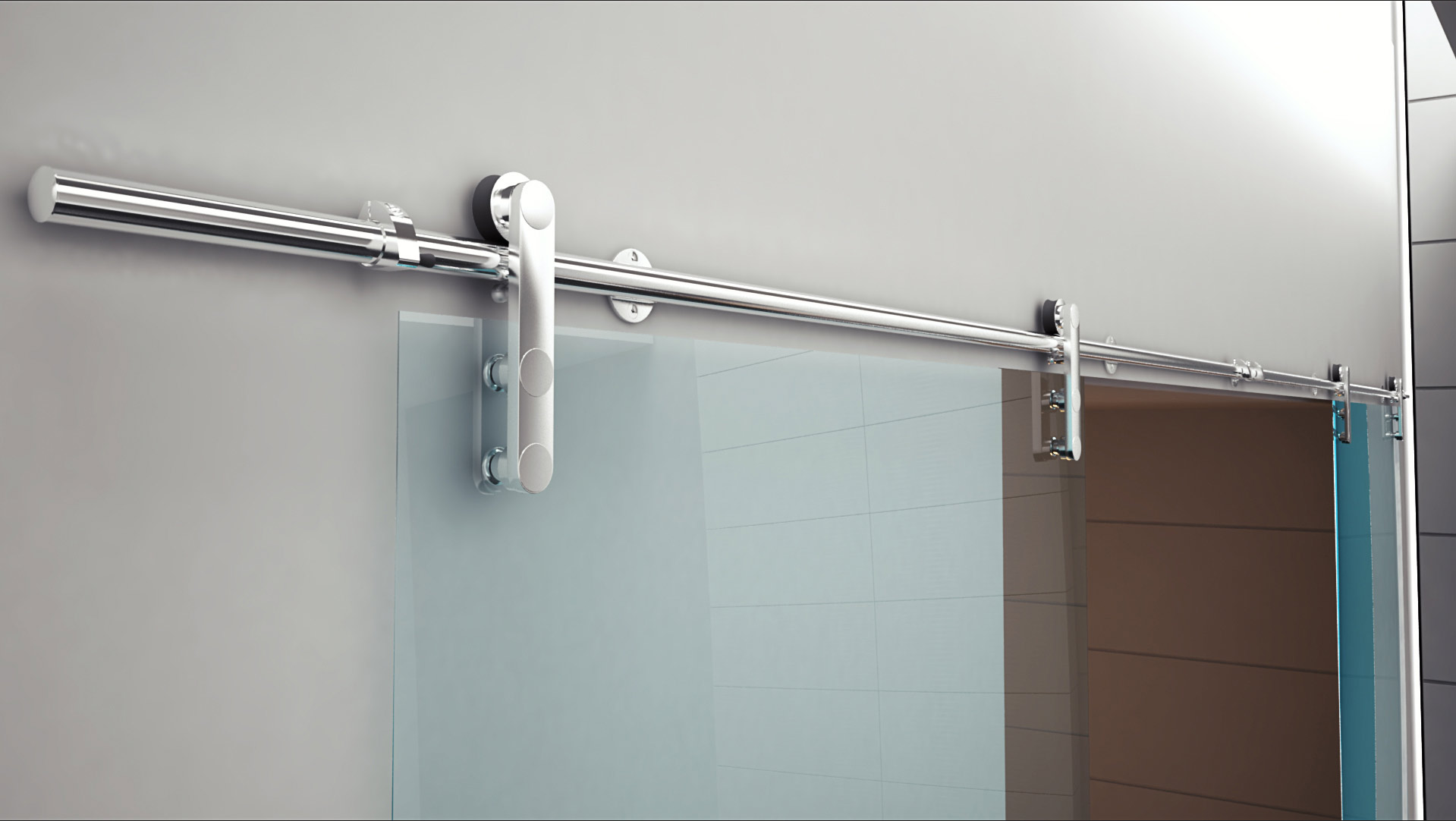 Sliding System F20 INOX 304 in 3D Video